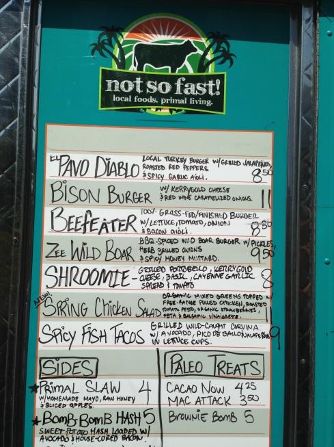 Paleo food truck