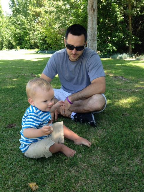 daddy, Father's day, baby, park, playing