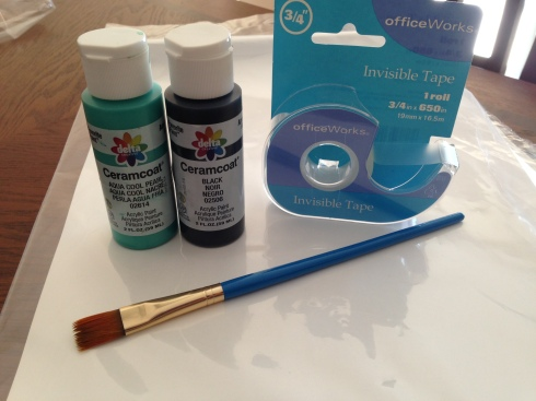 Supplies for Simple Wall Art Project